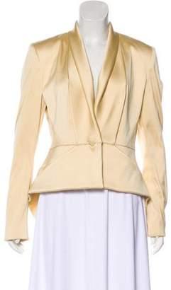 Zac Posen Silk-Blend Long Sleeve Blazer