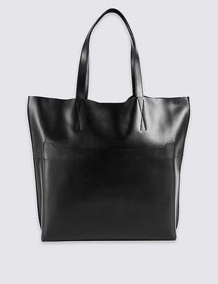 Marks and Spencer Leather Pocket Shopper Bag