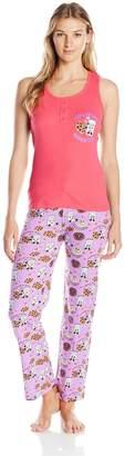 Carnival Women's Tank Top and Long Pant Pajama Set