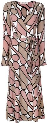 Diane von Furstenberg printed wrap dress