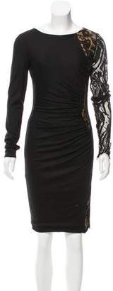 Emilio Pucci Lace-Trimmed Wool Dress