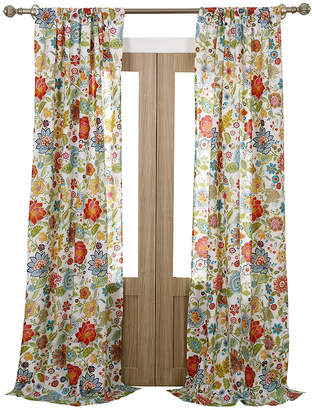 Greenland HOME FASHIONS Home Fashions Astoria Floral 2-pack Curtain Panels