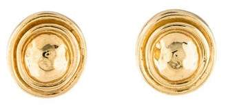 Christian Dior Textured Stud Earrings