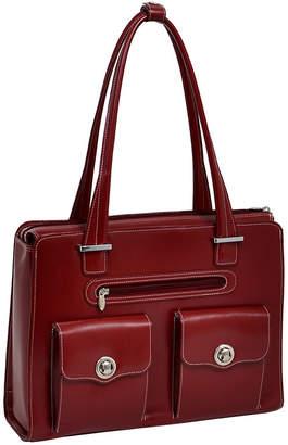 McKlein McKleinUSA Verona 15.4 Leather Fly-Through Checkpoint-Friendly Laptop Briefcase