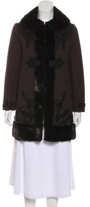 Prada Mink-Trimmed Wool & Angora Coat