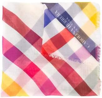 Carolina Herrera checked print scarf