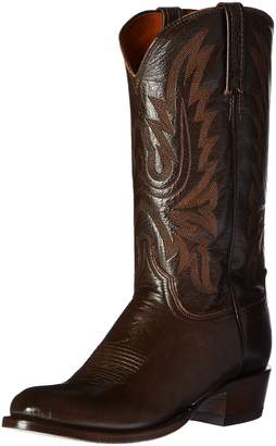 Lucchese Bootmaker Men's Carson-Ant Walnut Lonestar Calf Cowbo Riding Boot