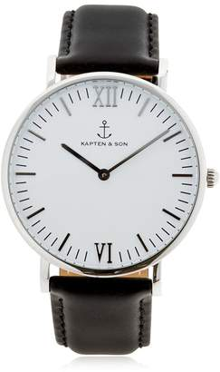 KAPTEN & SON 40mm Leather Watch
