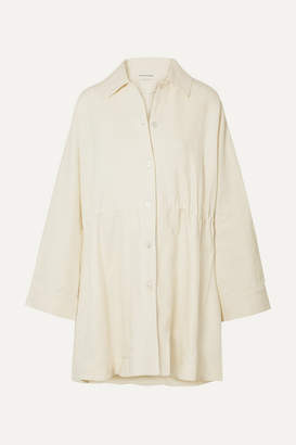 Mansur Gavriel Oversized Linen Coat - Cream
