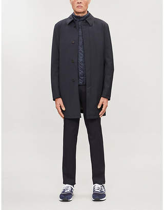 Canali Water-repellent collared wool coat