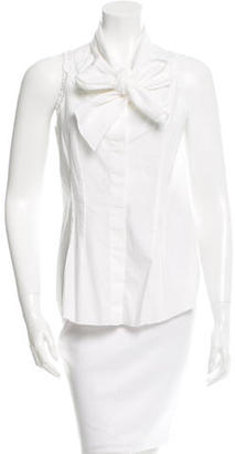 Vera Wang Sleeveless Button-Up Top $65 thestylecure.com