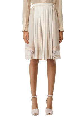 Burberry Pleated-Front Skirt