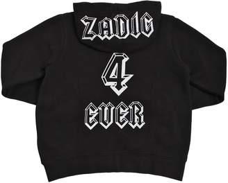 Zadig & Voltaire Zadic 4 Ever Hooded Cotton Sweatshirt