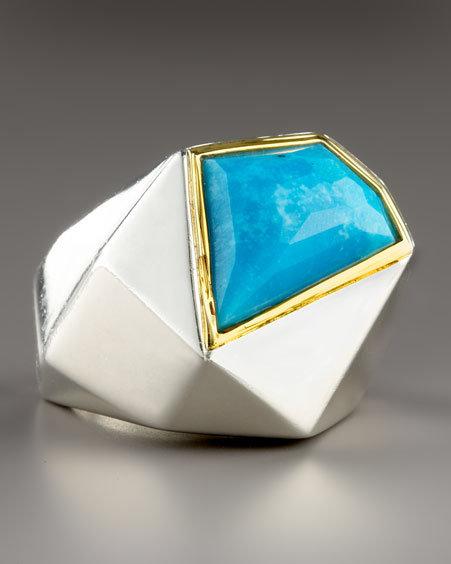 Kara Ross Big Turquoise Ring