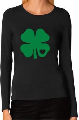DAY Birger et Mikkelsen Tstars Irish Shamrock Green Clover Heart St. Patrick's Women Long Sleeve T-Shirt