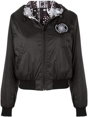 Versus logo patch hooded jacket