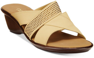 Onex Ariel Embellished Wedge Sandals $115 thestylecure.com