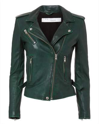 IRO Newhan Green Leather Jacket