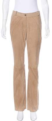 Christian Dior Mid-Rise Suede Pants