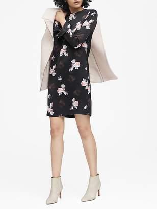 Banana Republic Floral Ruffle-Cuff Dress