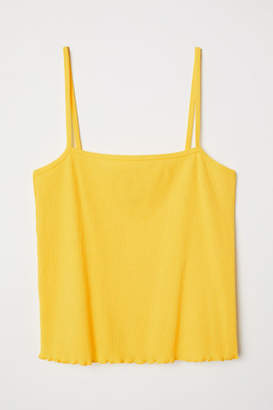 H&M Short Camisole Top - Yellow