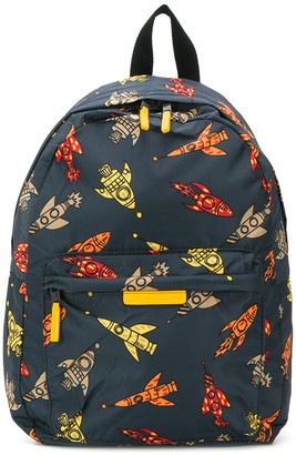 Stella McCartney rocket print backpack