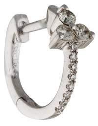 Ef Collection 14K Diamond Trio Single Huggie Hoop Earring
