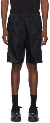 Helmut Lang Black Snap Shorts