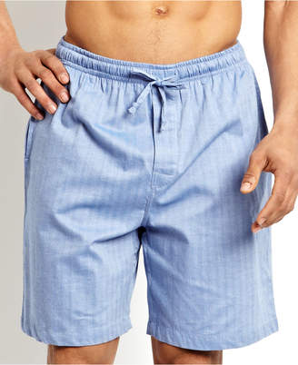 Nautica (ノーティカ) - Nautica Men's Sleepwear, Blue Herringbone Short