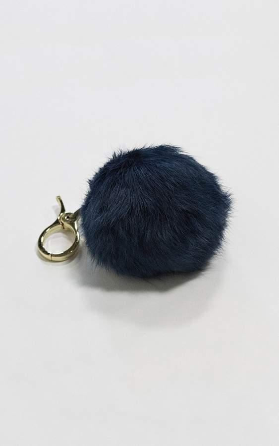 Ily Couture Blue Pom Pom Keychain