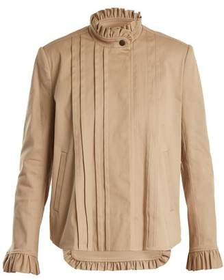 Preen Line Jessie Frill Trimmed Stretch Cotton Jacket - Womens - Camel