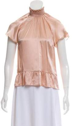Rachel Zoe Silk Short Sleeve Top w/ Tags