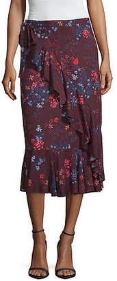 Liz Claiborne Woven Faux-Wrap Skirt