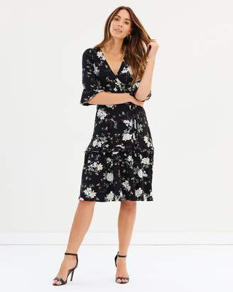 Dorothy Perkins Floral Wrap Midi Dress