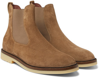 Loro Piana Winter Beatle Walk Suede Chelsea Boots - Men - Brown