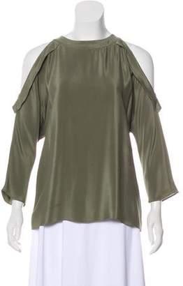 Ramy Brook Cold-Shoulder Silk Top
