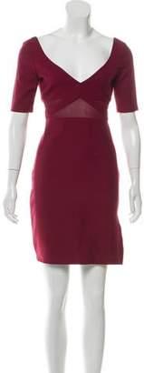 Elizabeth and James V-Neck Short Sleeve Mini Dress