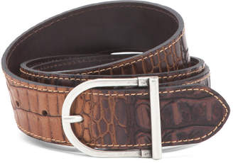 Made In Italy Croc Leather Belt