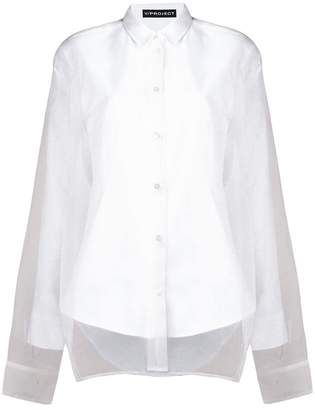 Y/Project Y / Project tulle overlay classic shirt