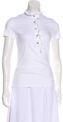 Tory Burch Short Sleeve Polo Top