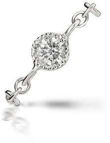 Maria Tash Orbit Diamond & Chain Double Pierced Earring