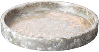"Jamie Young 12"" Marble Low Tray - Silver/Gold"