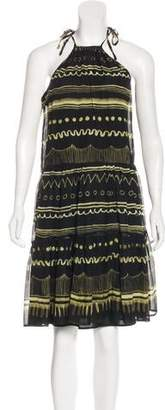 Vena Cava Printed Silk Dress