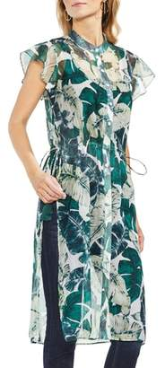 Vince Camuto Jungle Palm Side Tie Tunic