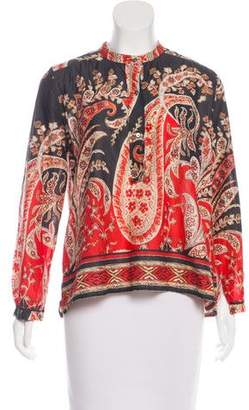 Etoile Isabel Marant Paisley Button-Up Top