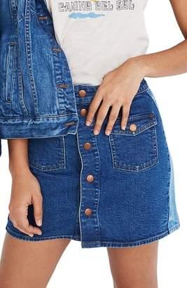 Madewell Pieced Beverly Denim Skirt