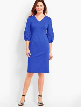 Talbots V-Neck Ponte Sheath