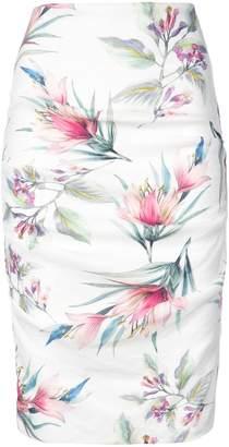 Nicole Miller floral print midi skirt