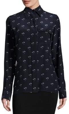 Victoria Beckham Silk Daisy-Print Shirt