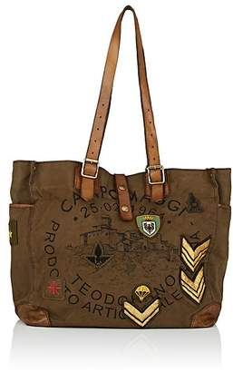 Campomaggi Women's Leather-Trimmed Canvas Tote Bag
